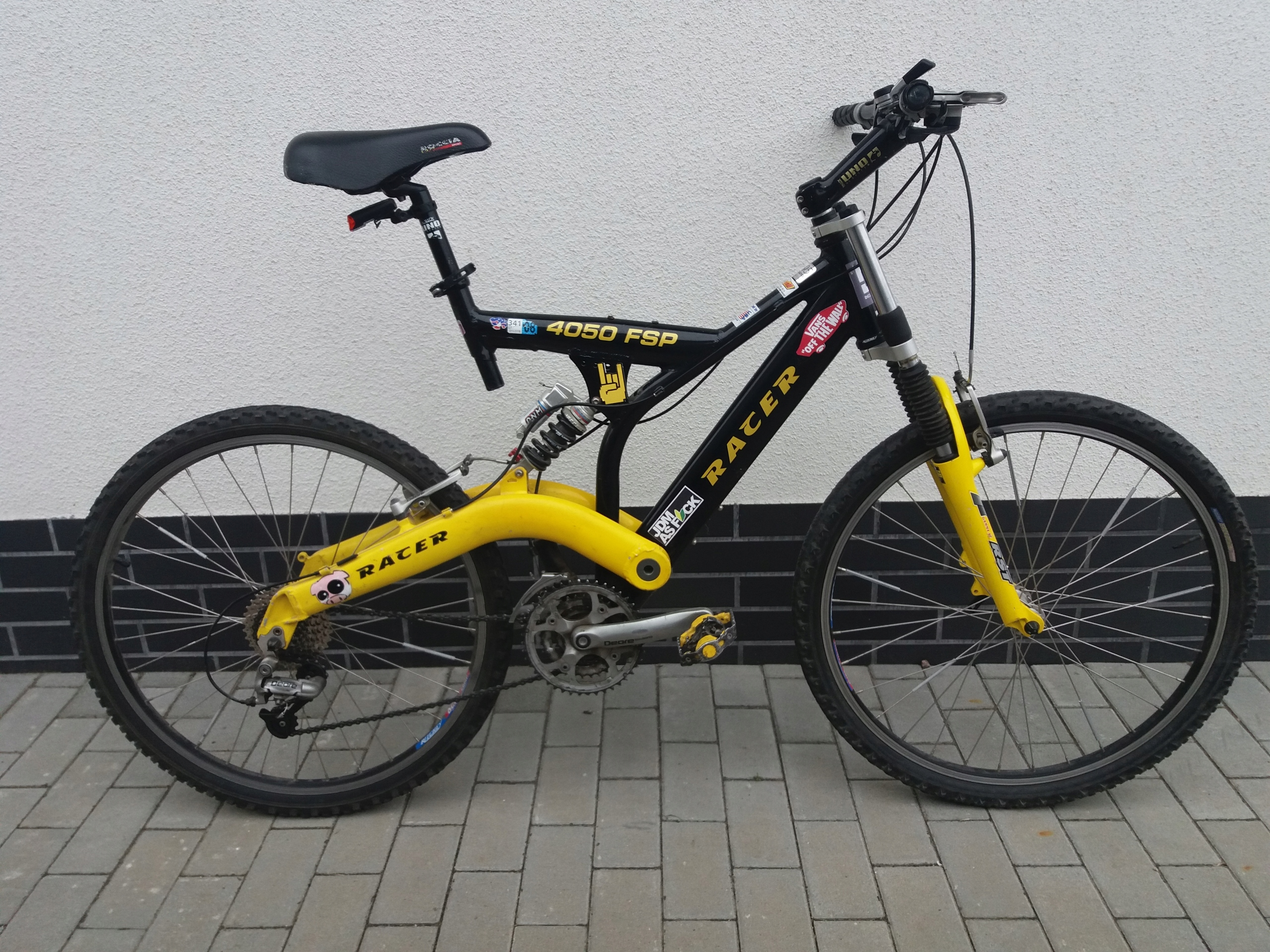 "Alu Rower Zjazdowy Racer 4050 FSP Deore 21"""