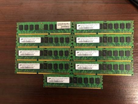 Pamięć Ram Pc3 8500r 2gb 1rX4 Pakiet 9szt Okazja