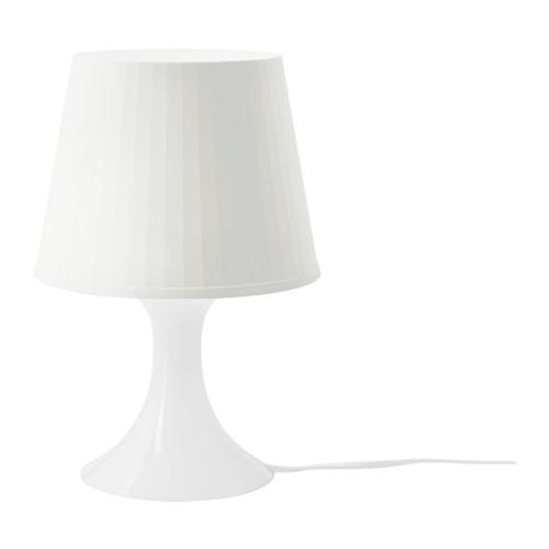 Ikea Lampan Lampka Nocna Stolowa Biala 7005357569
