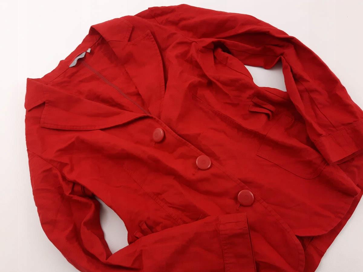 M&S czerwony ŻAKIET CASUAL _ LNIANY 44 XXL