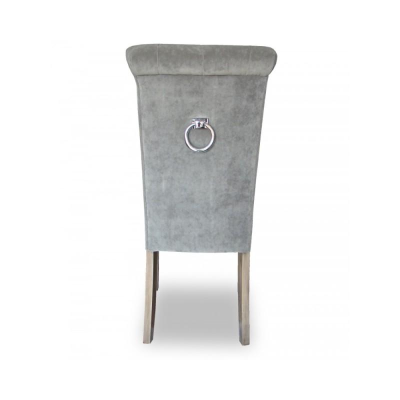 Eleganckie krzesło ARTIS 36 pikowanie CHESTERFIELD z kołatką