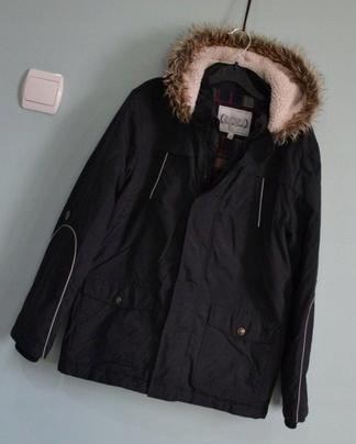 3192 defekt damska kurtka zimowa parka czarna