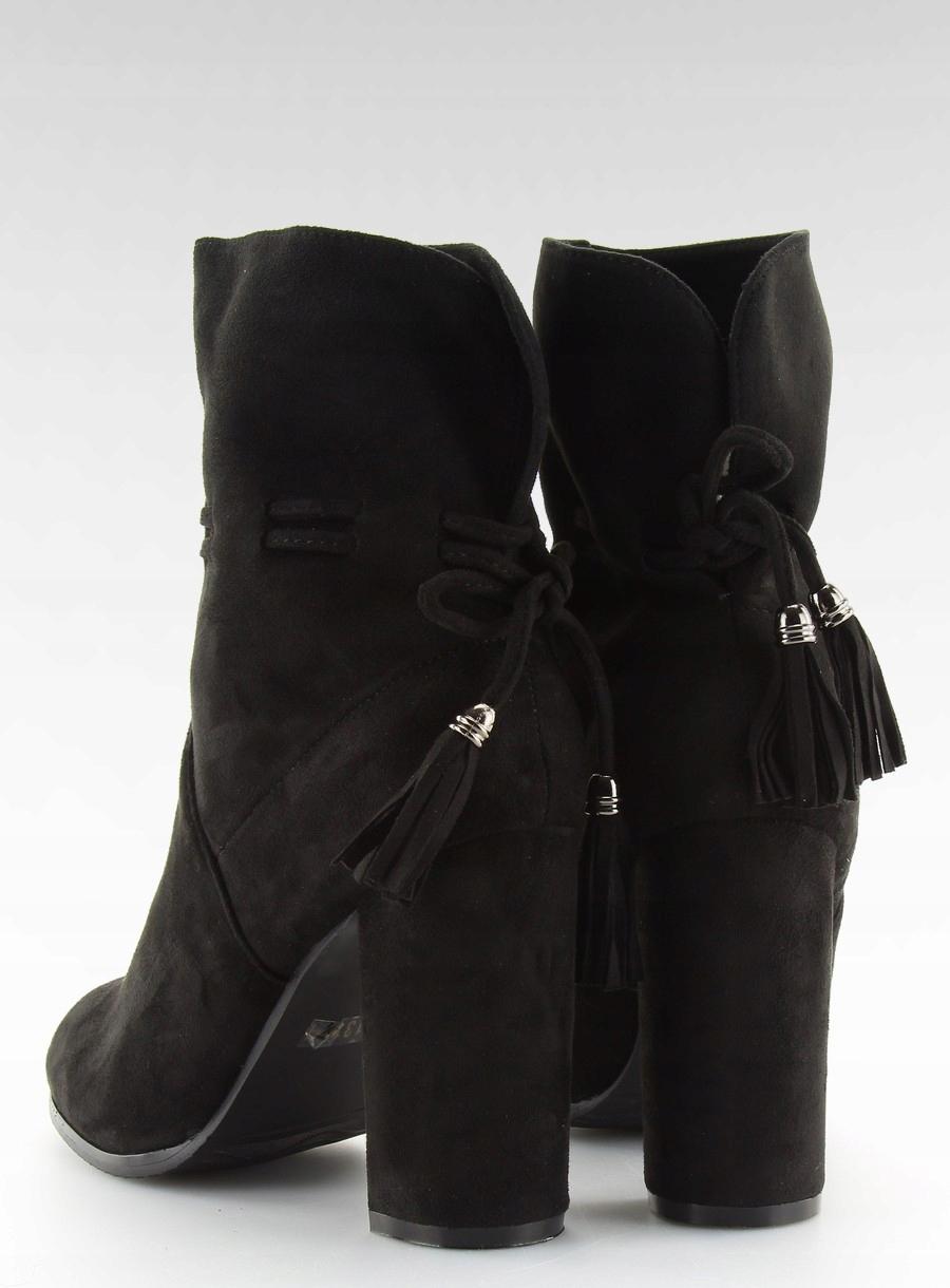 3e0cee7291837 Botki na szerokim obcasie czarne BLACK 36 buty - 7225485017 ...