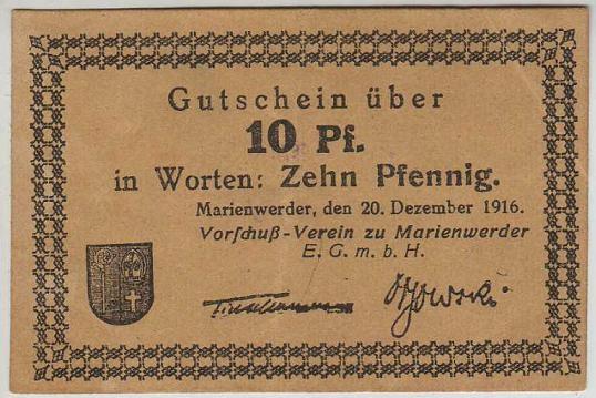 R11 Kwidzyń (Marienwerder), 10 pf, 1916r.- odmiana