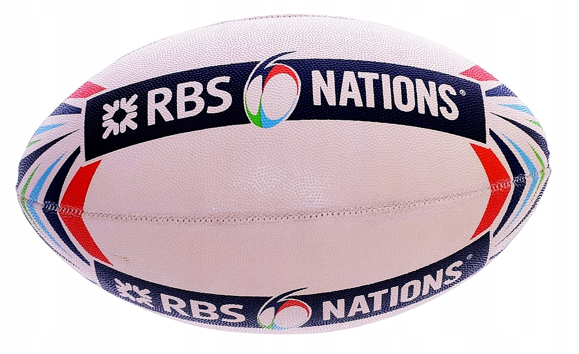 6133-18 ...RBS NATIONS m#b PILKA DO RUGBY 22CM
