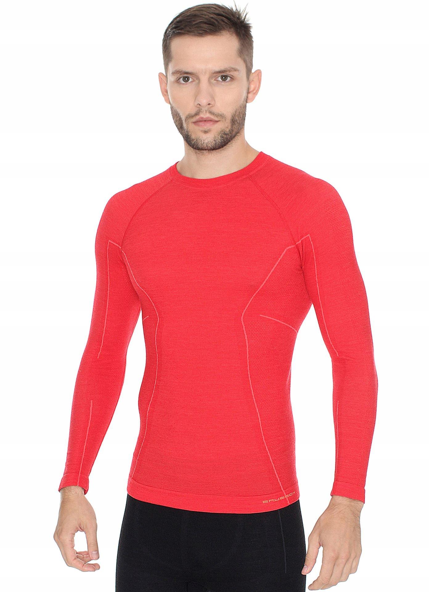 Brubeck koszulka termo ACTIVE WOOL czerwona XL