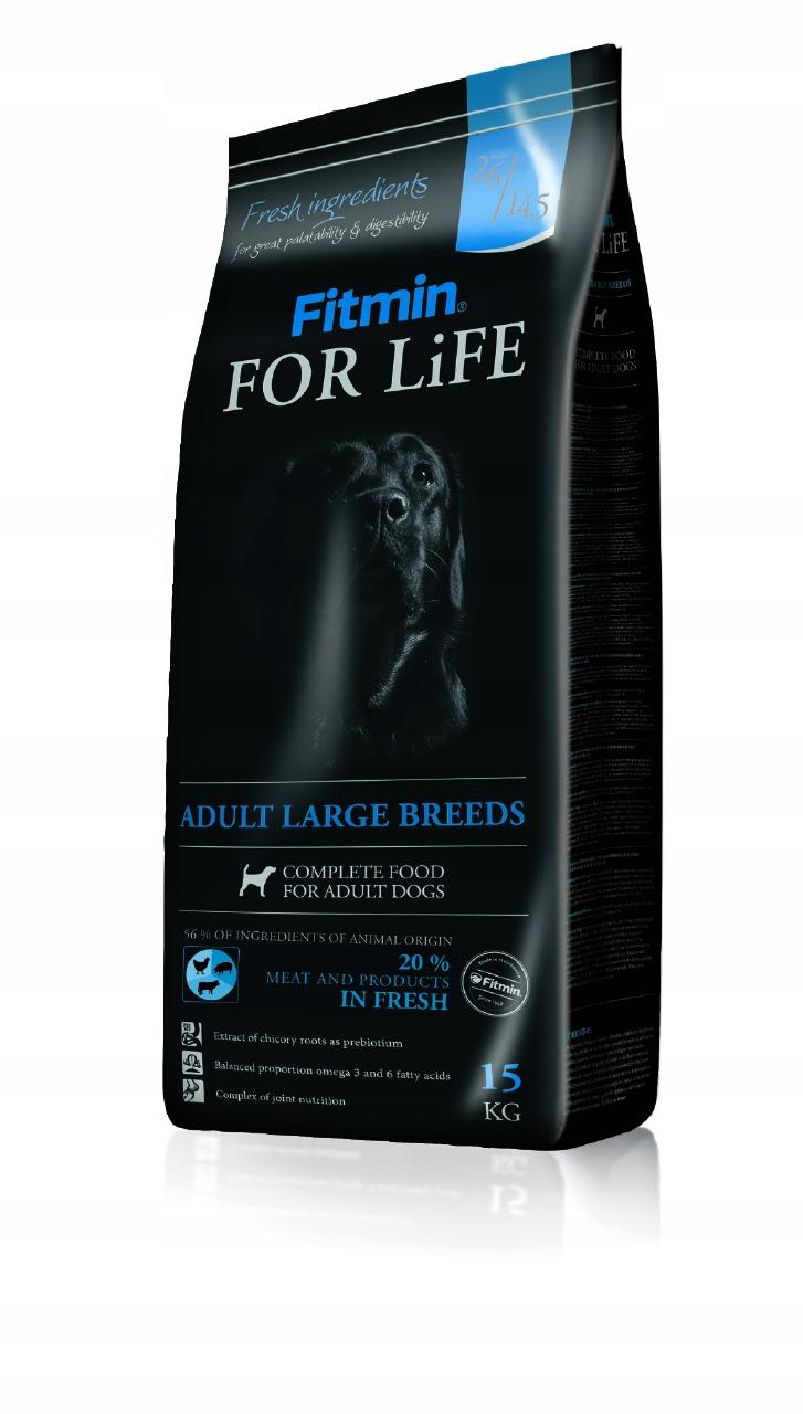 Fitmin for Life Adult Large breeds 15kg + GRATIS
