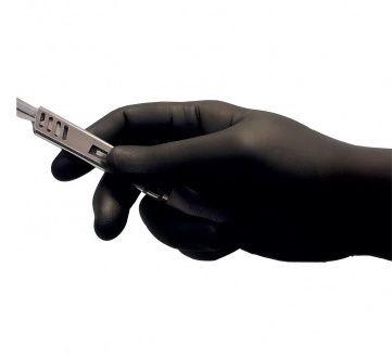 Rękawiczki nitrylowe czarne rozmiar S 100 szt.