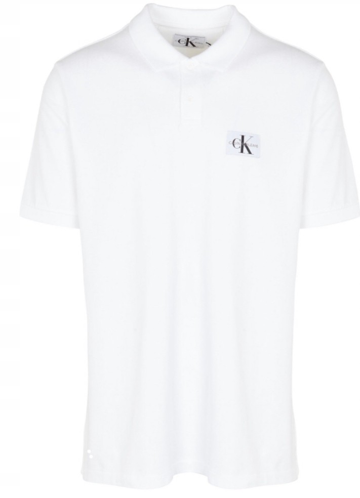 Koszulka Polo CALVIN KLEIN Polówka ! Biala - S
