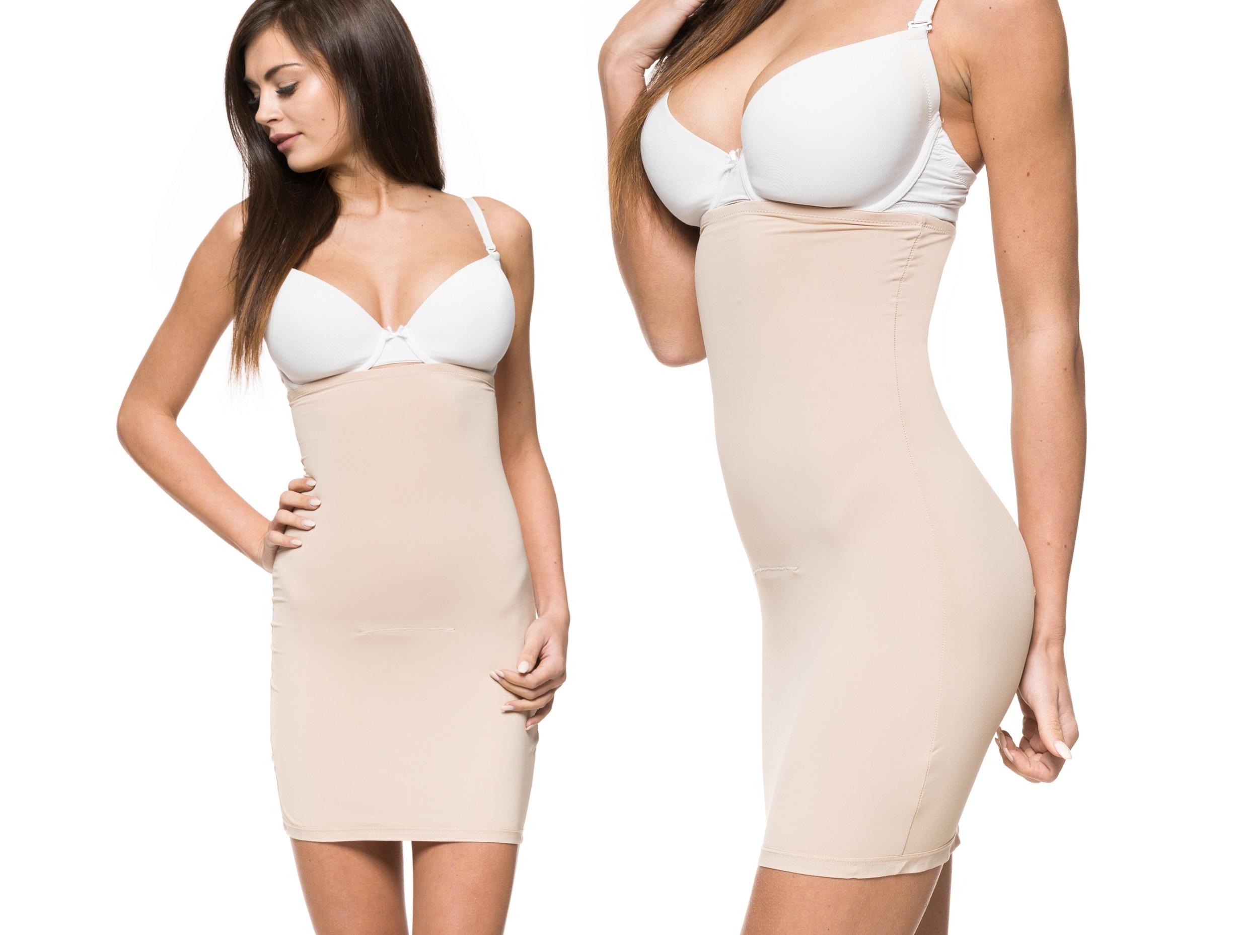 09299068a1b4be HALKA tuba sukienka MOCNO WYSZCZUPLAJĄCA brzuch XL - 6640228017 ...
