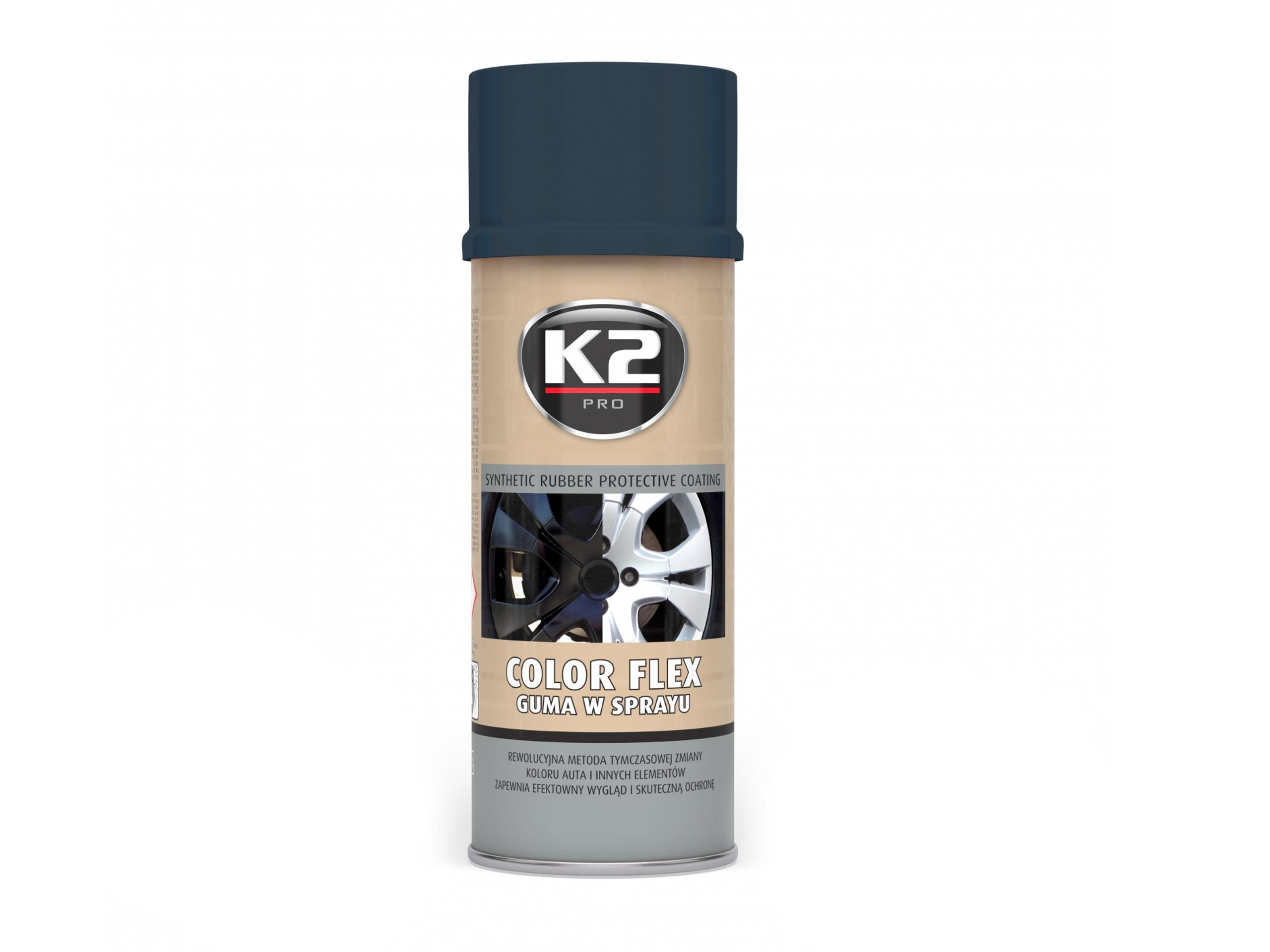 K2 COLOR FLEX GUMA W SPRAYU 400ML CARBON