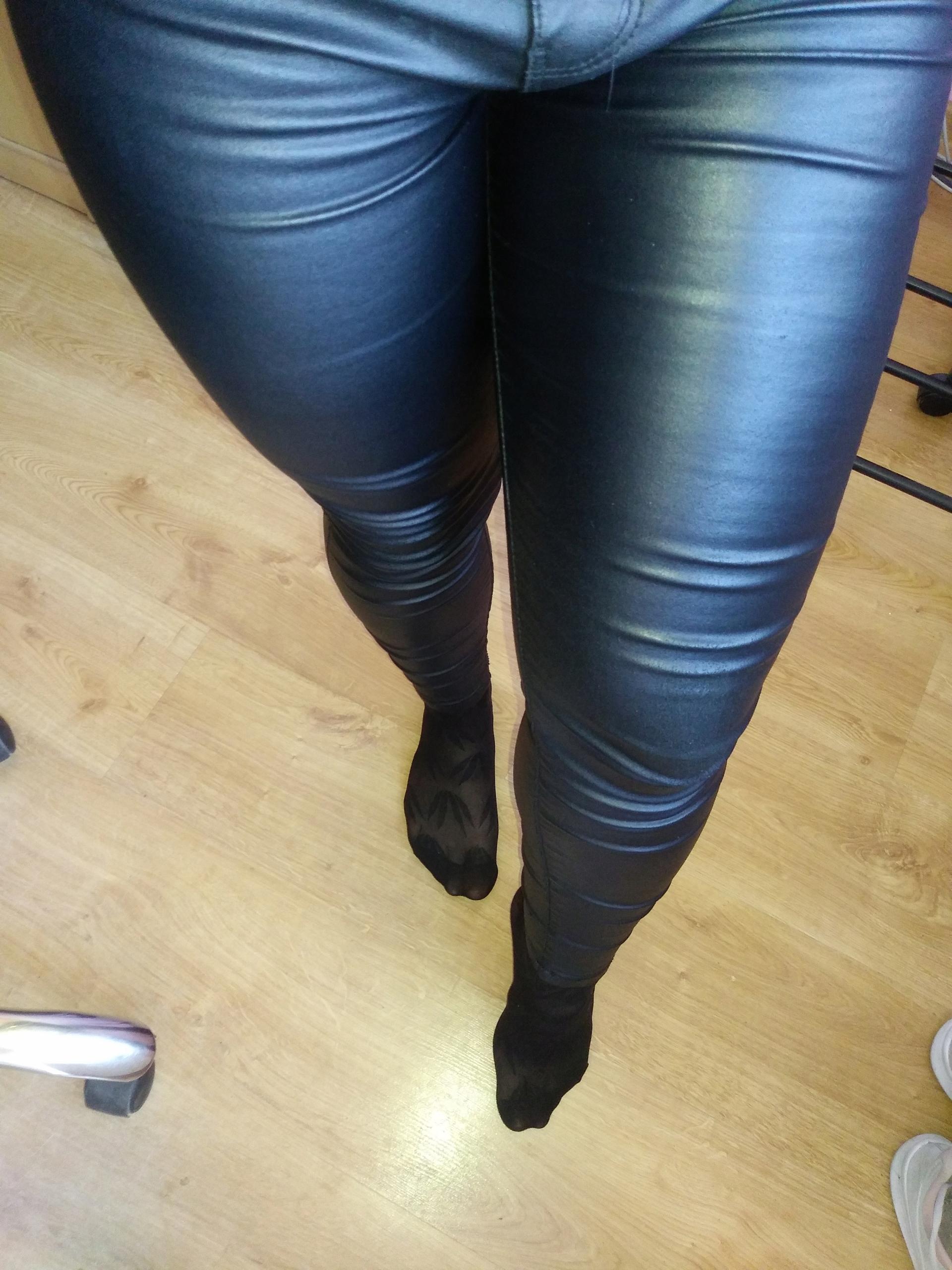Spodnie skorzane czarne fetysz