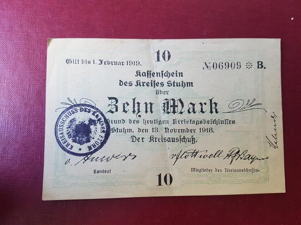 Sztum Stuhm Kreis 10 Marek 1918 1919