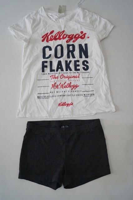 piżama H&M bluzka i szorty 34 XS F3