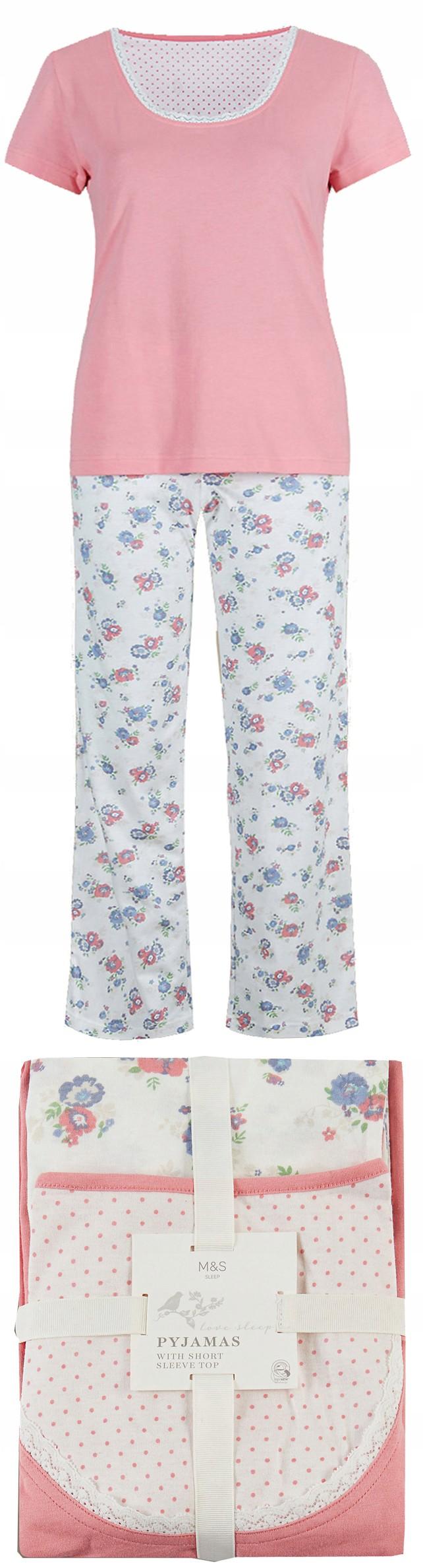 NOWY M&S angielska piżama komplet s/m 36/38