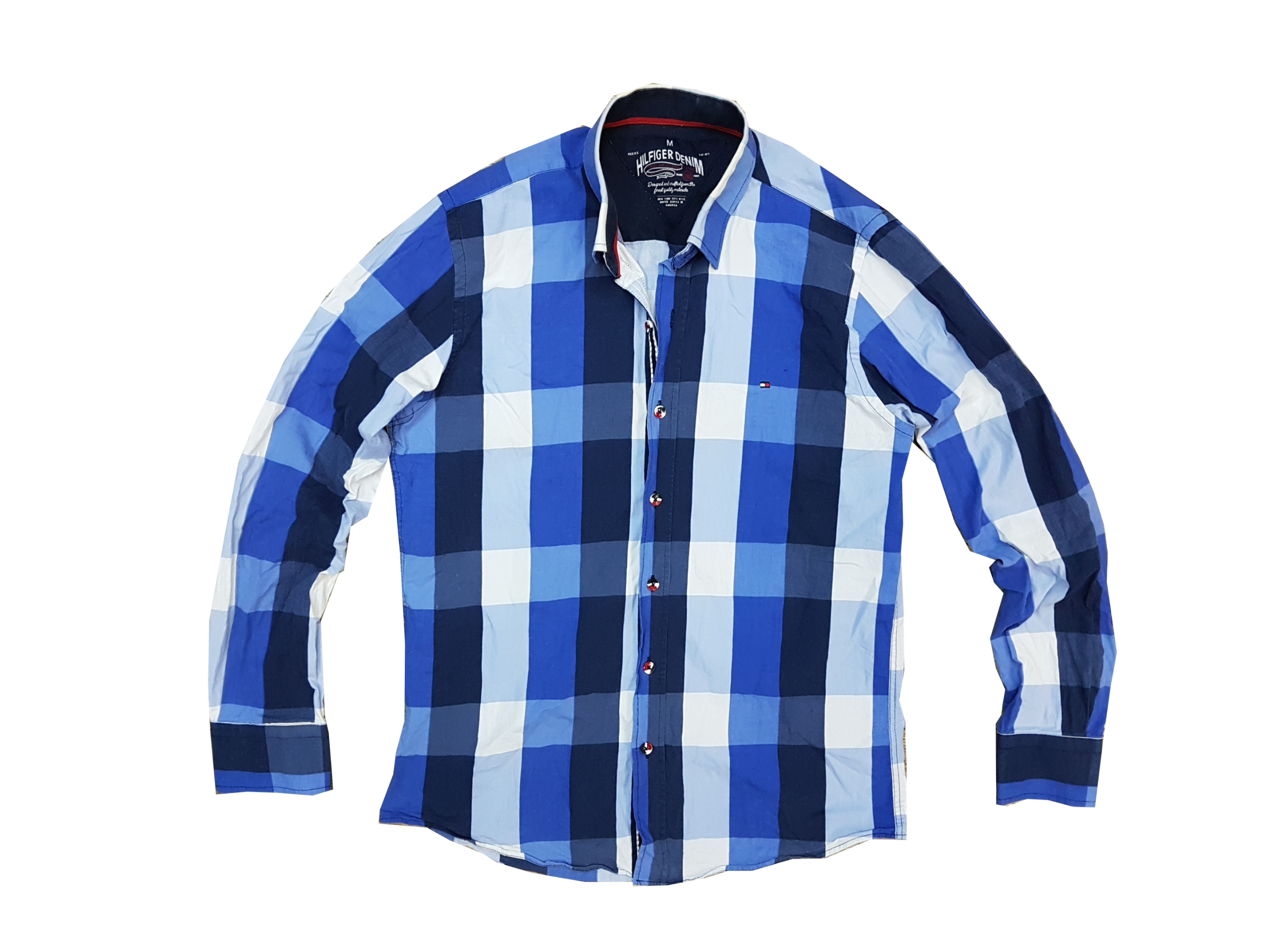 196f4def8 TOMMY HILFIGER koszula w kratę Slim Fit M - 7708072763 - oficjalne ...
