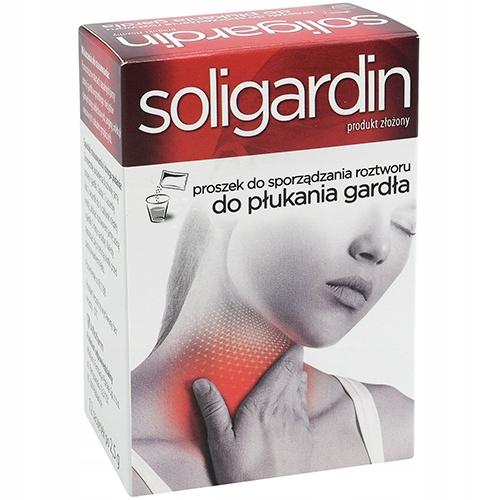 AP Soligardin produkt do płukania gardła - 12 sasz