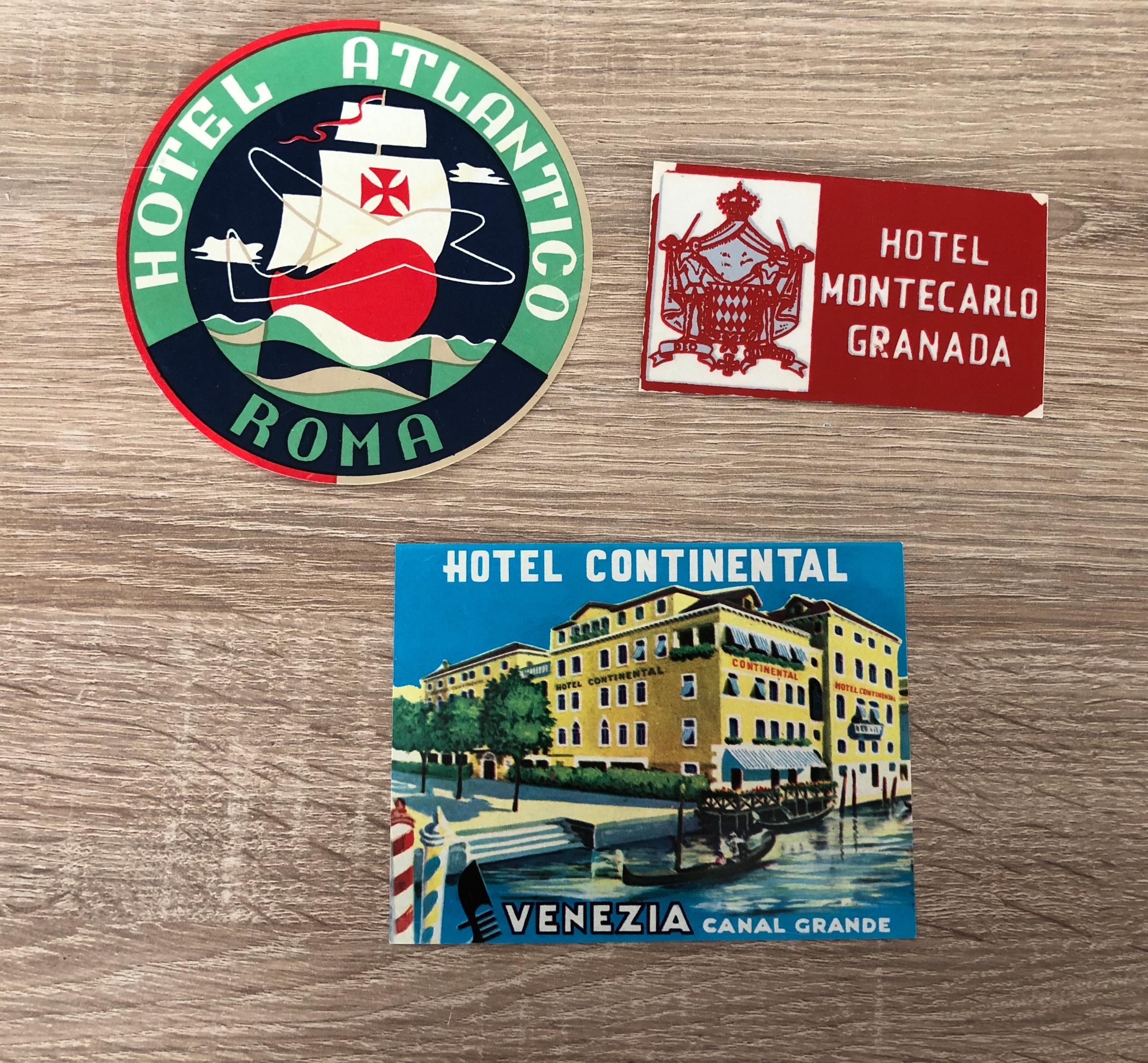 Etykiety hotelowe HOTEL naklejki na walizkę Wwa