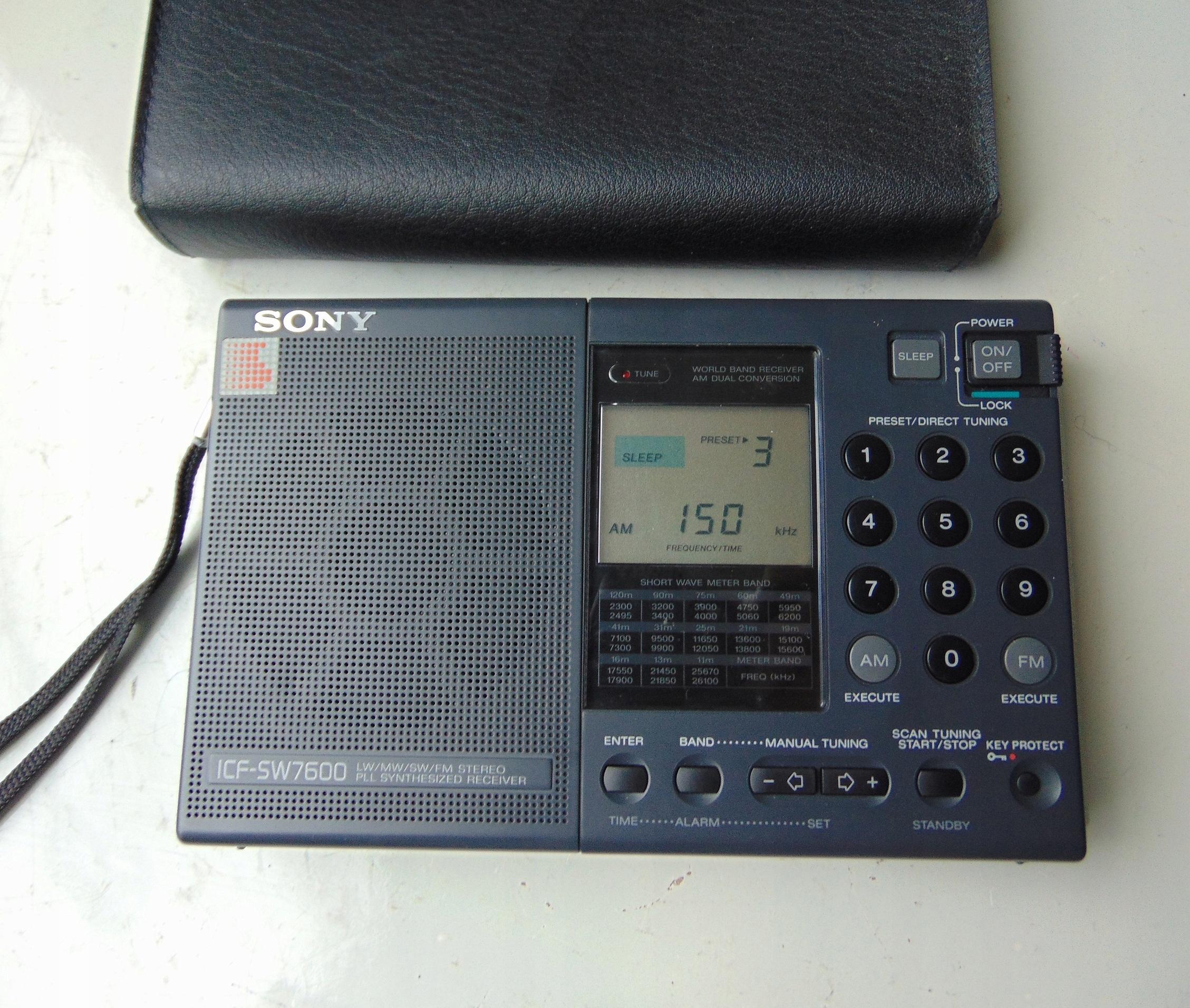 Mini radio Sony ICF-SW7600