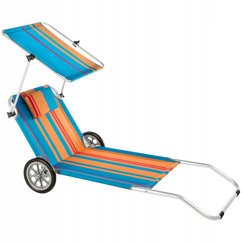 Leżak plażowy na kółkach leżanka plażowa Nizza