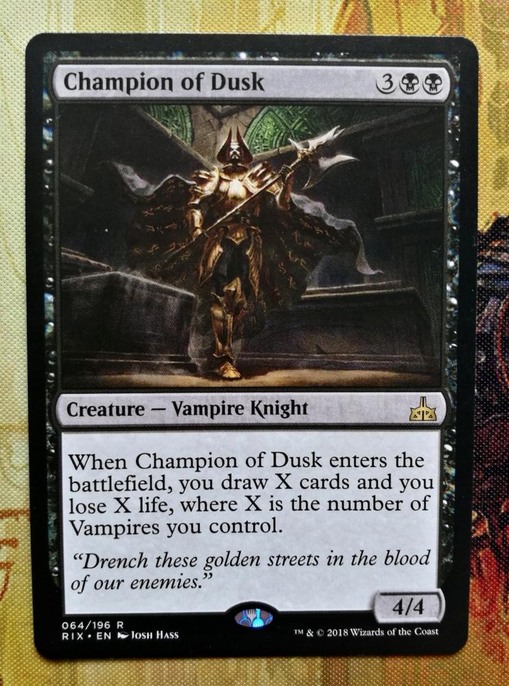 Champion of Dusk (RIX, Rare)