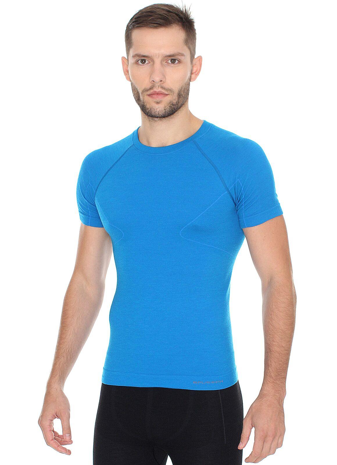 BRUBECK ACTIVE WOOL męska koszulka termoaktywna L