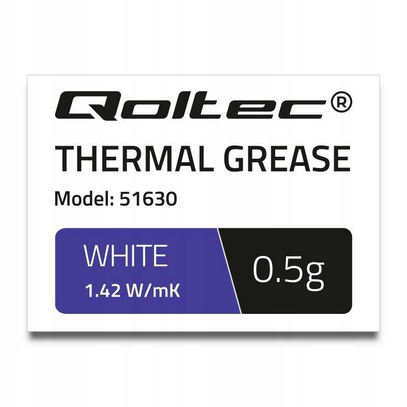 Pasta termoprzewodząca Qoltec 1.42 W/m-K | 0.5g |