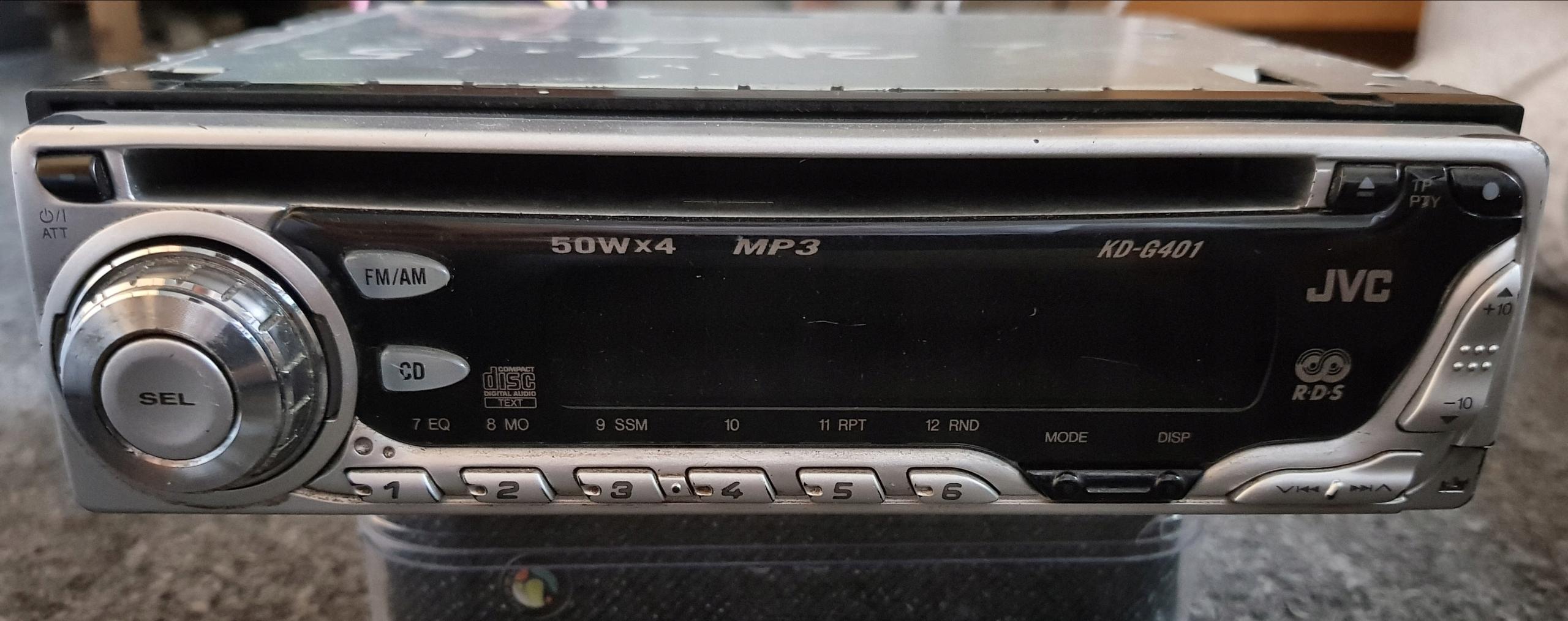 RADIO SAMOCHODOWE CD MP3 JVC KD-G401 OD 1ZŁ
