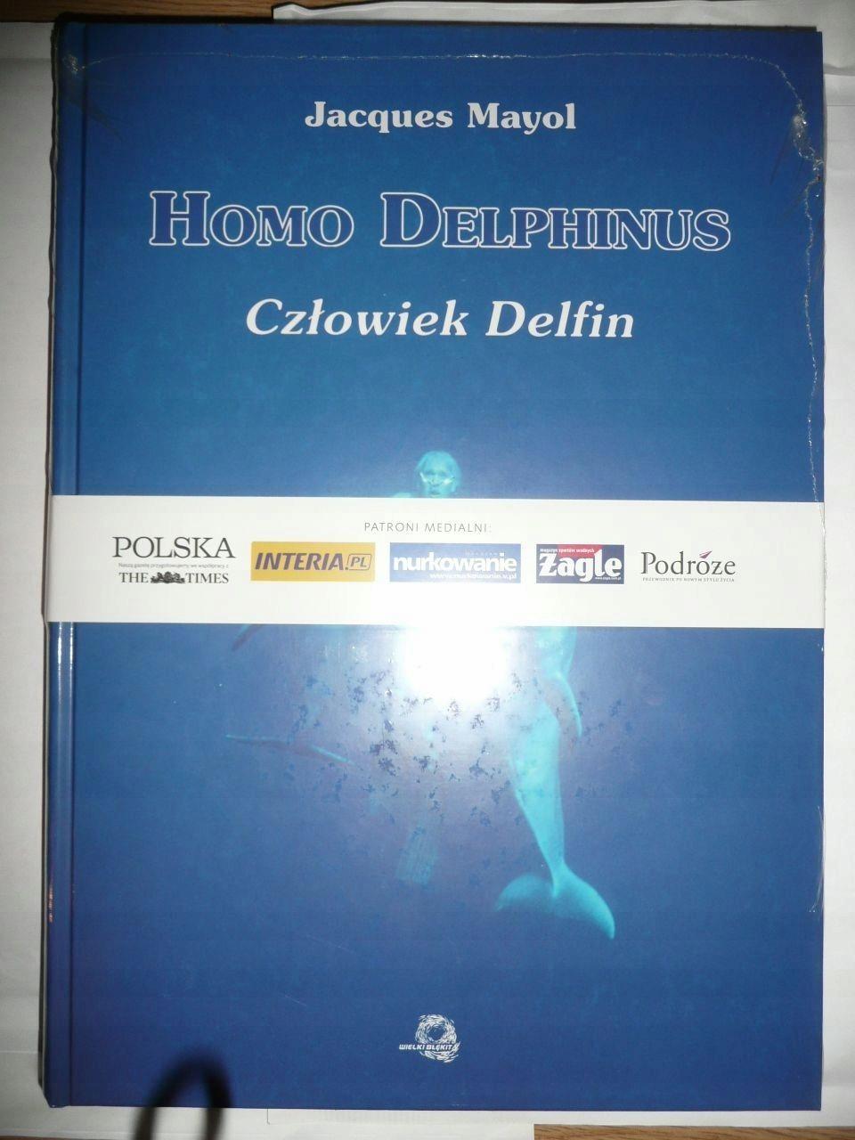 Homo Delphinus Człowiek delfin, Unikat Nowy /Folia