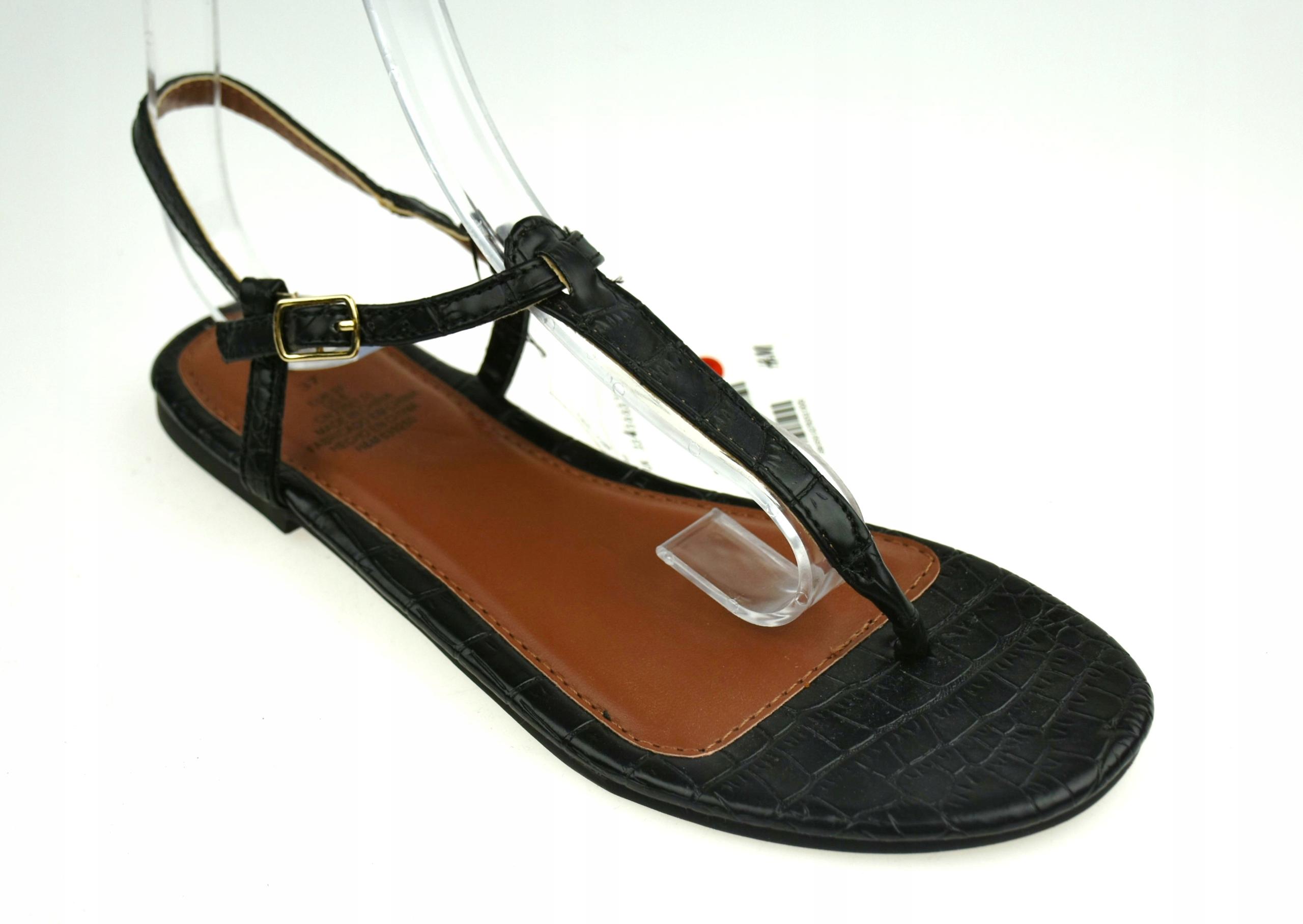 H&M 36 DAMSKIE japonki sandały wężowe 4S1798