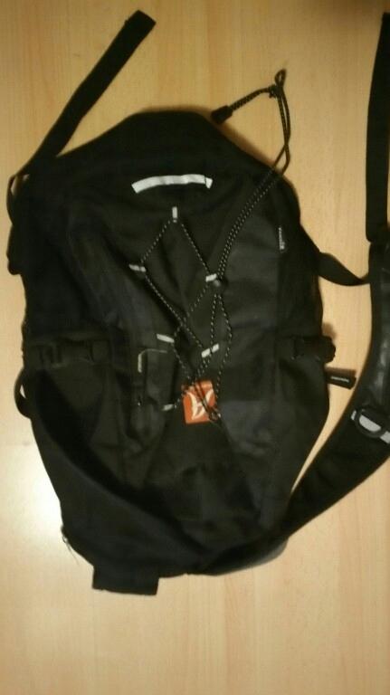 A Plecak Czarny Miękki 50x33 cm