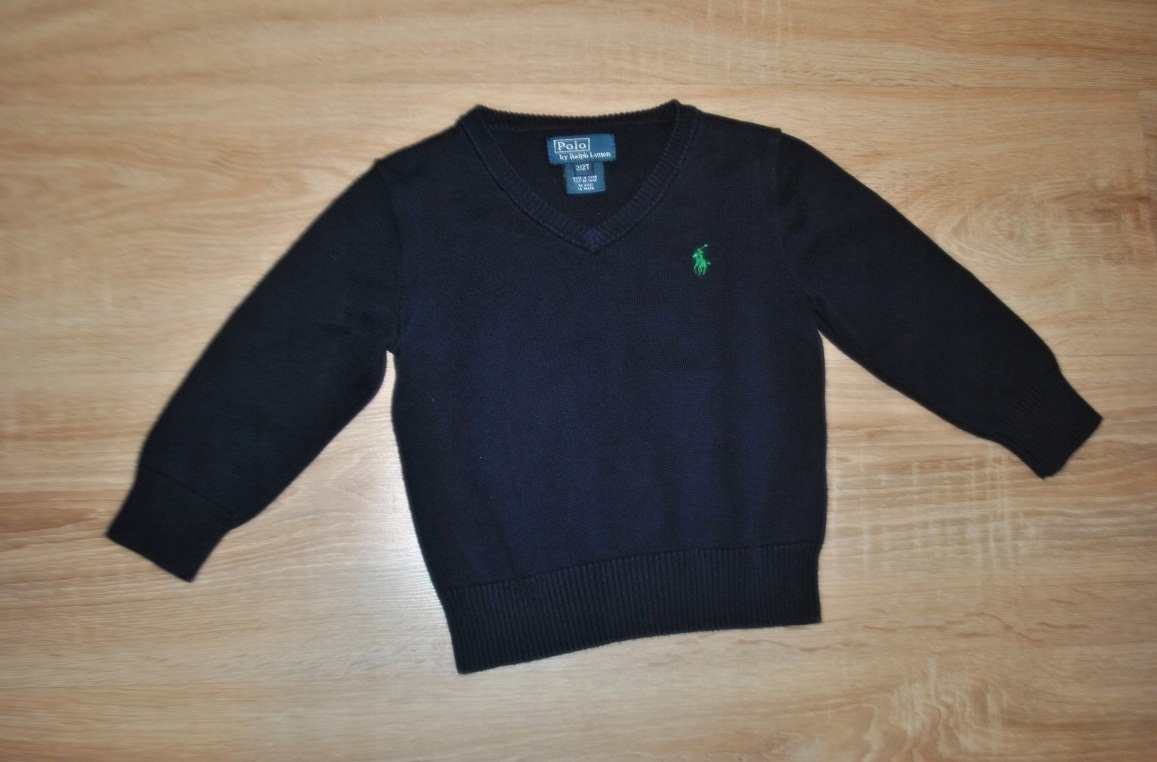 RALPH LAUREN stylowy sweterek LOGO 92