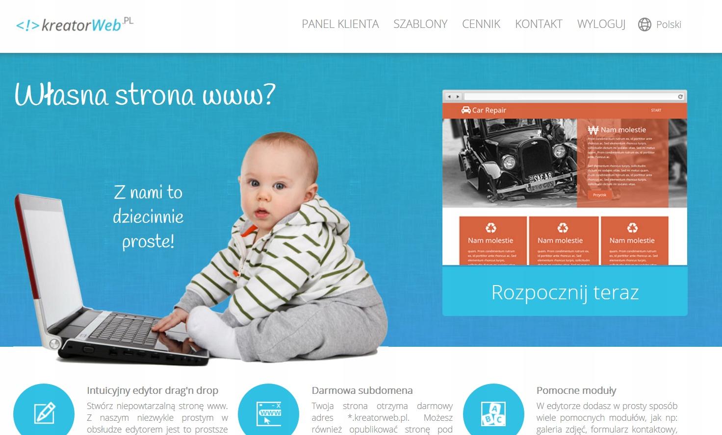 KreatorWeb.pl -skrypt kreatora stron internetowych