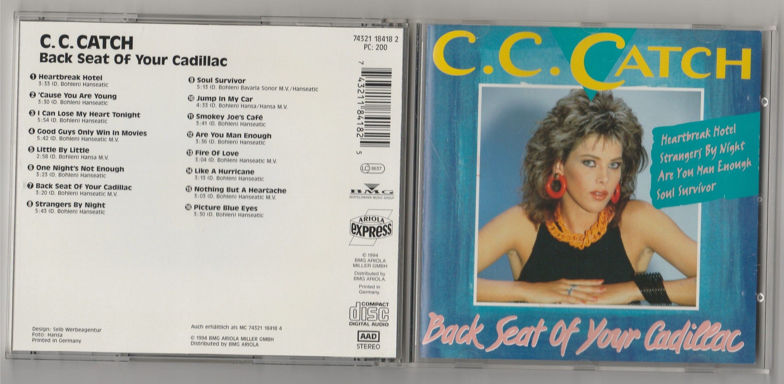C C CATCH Back Seat Of Your Cadillac CD 1994 IDEAL