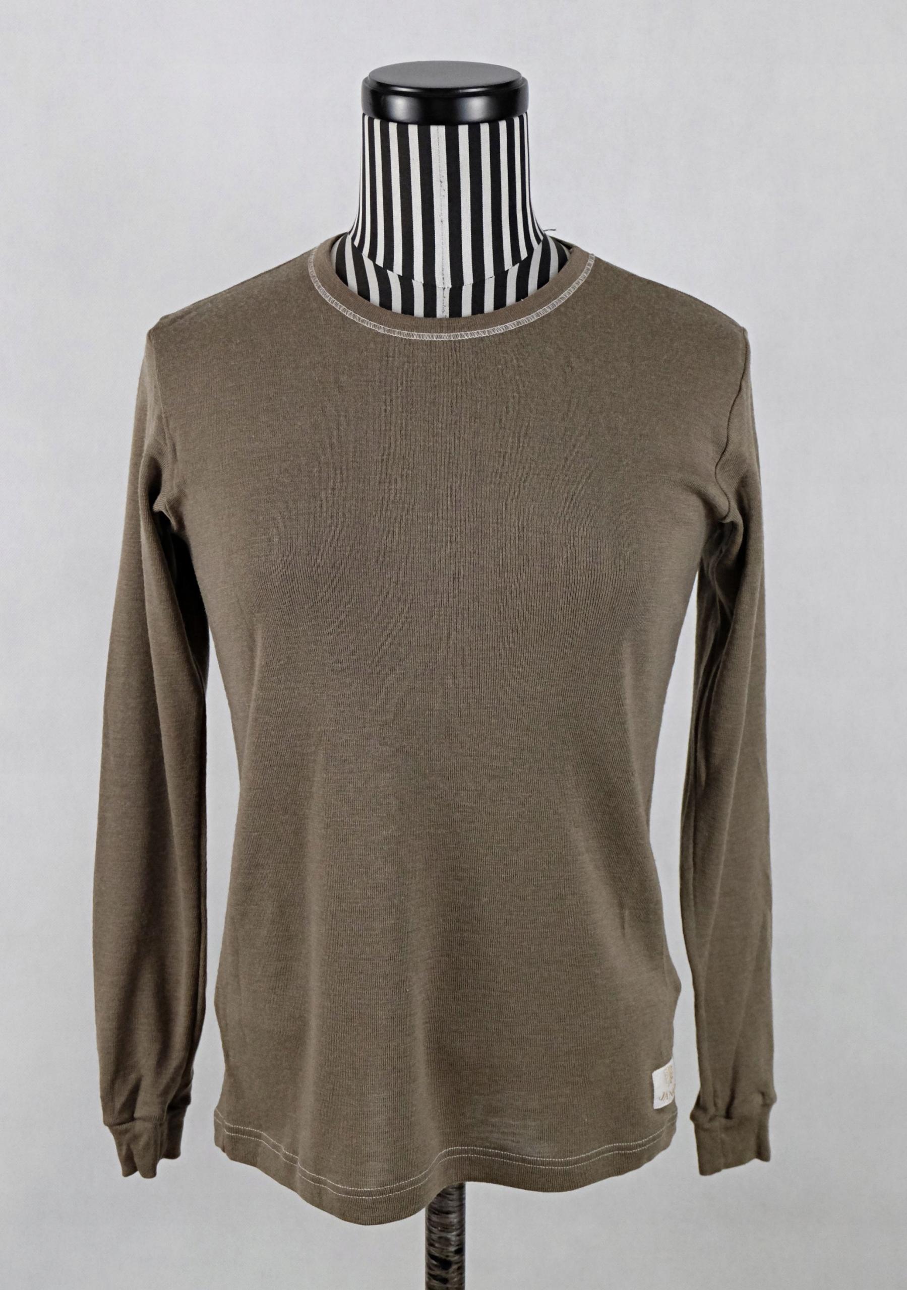 JANUS bluzka 100% merino wool brąz XXS