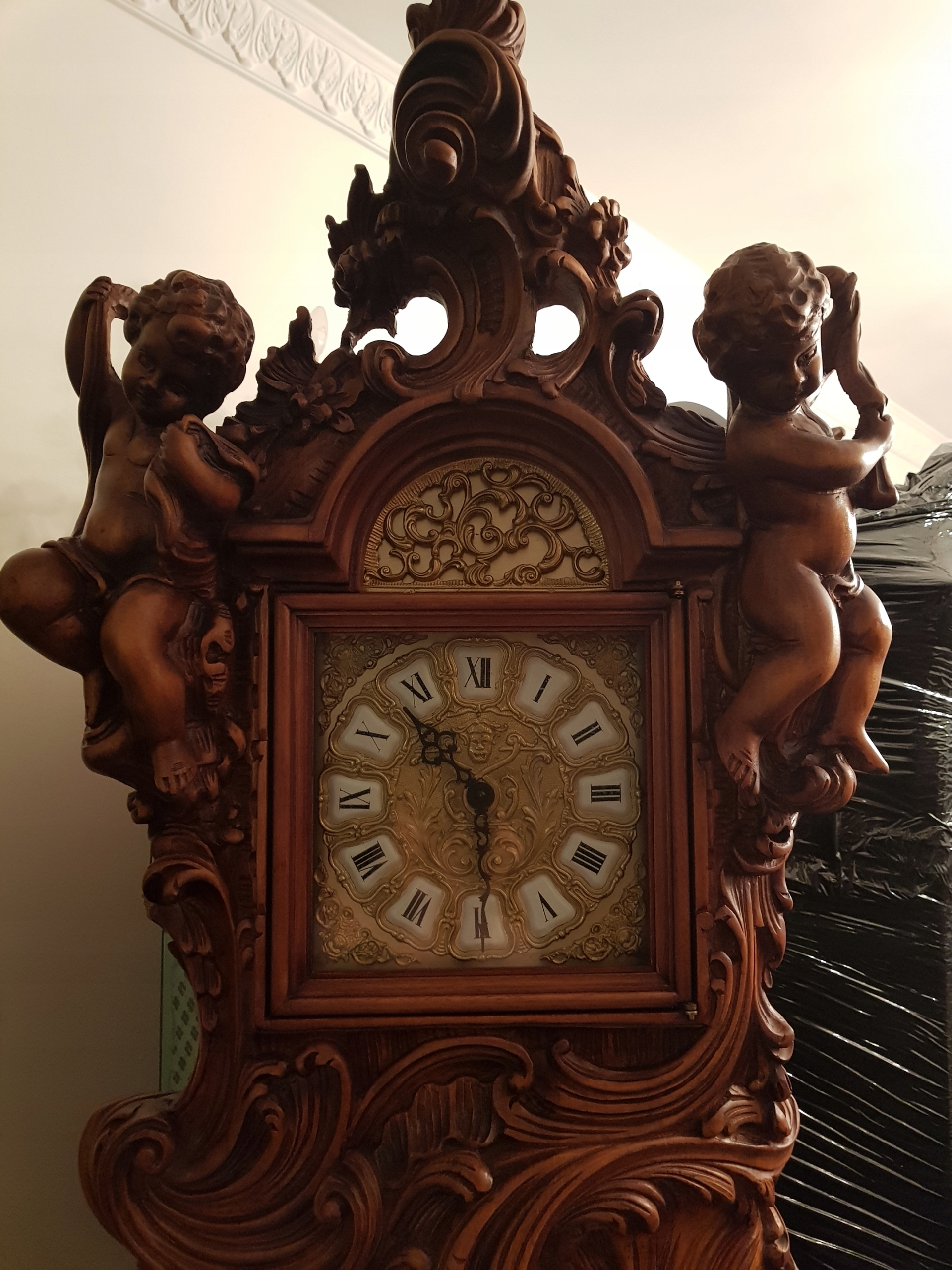 Zegar Stojący Barokowy Z Amorami 7824402875 Oficjalne
