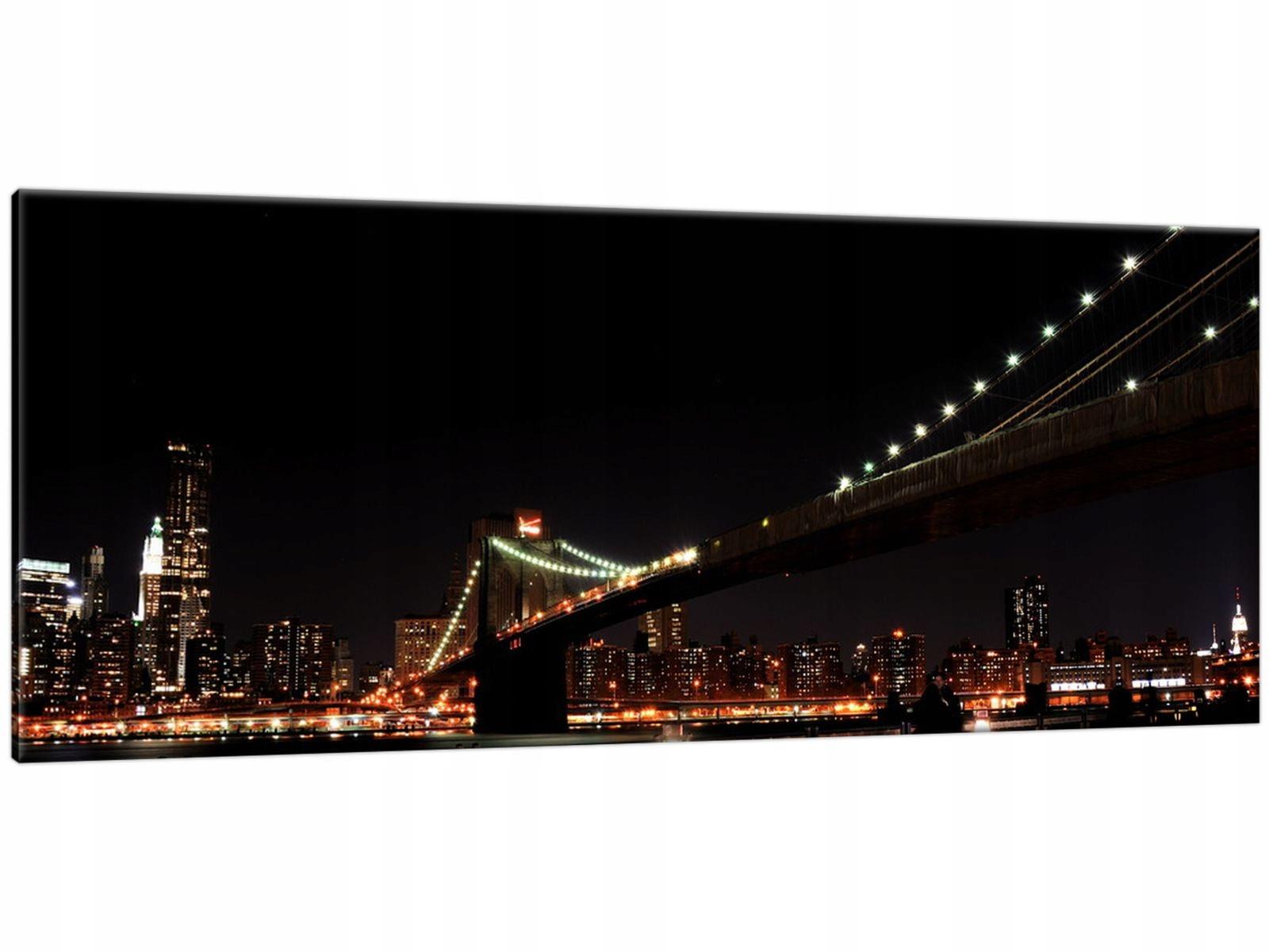 Obraz na Płótnie 100x40 Brooklyn Bridge