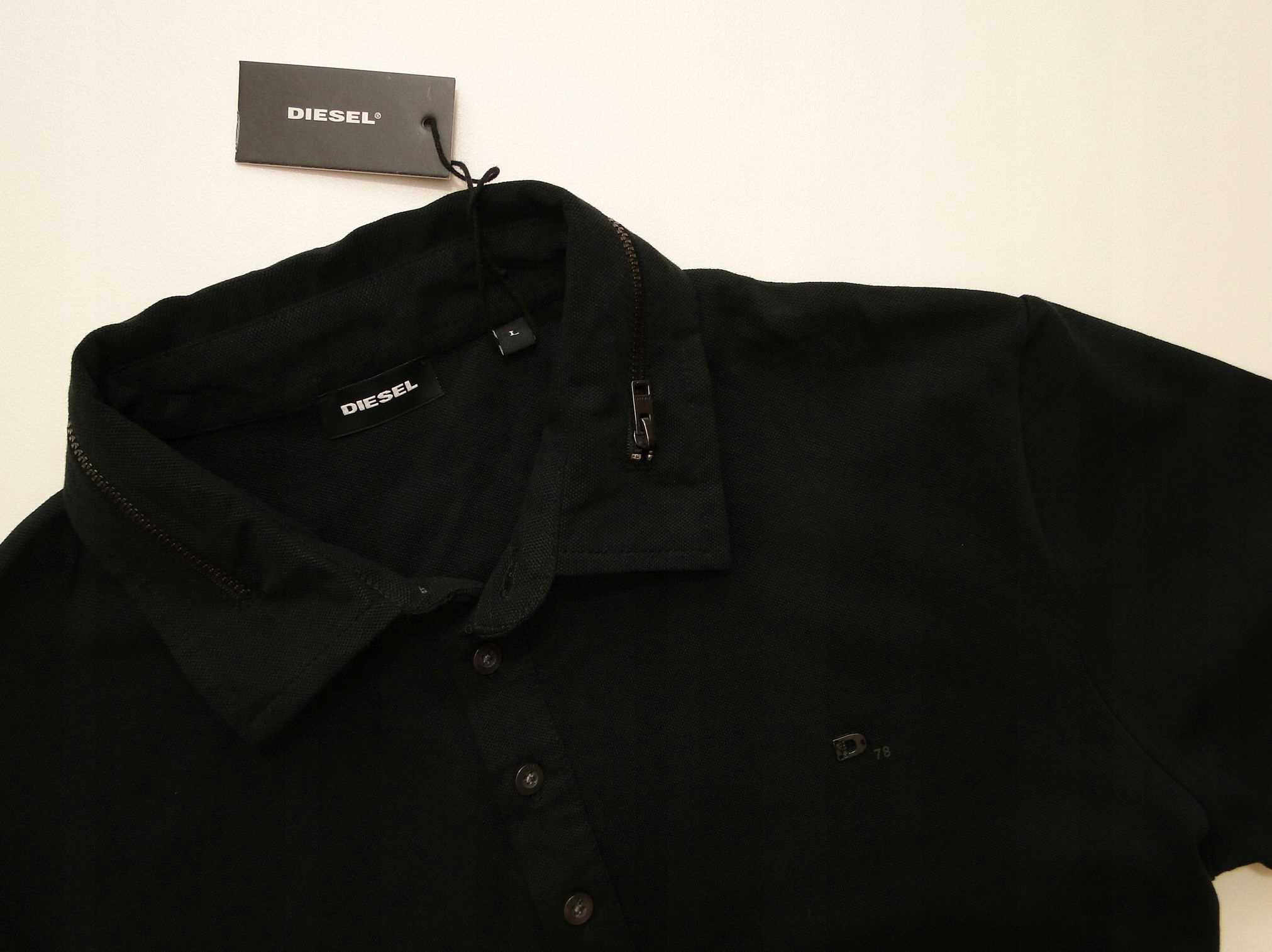 Koszula Diesel Original BlackHawk Steel Zip Polo L