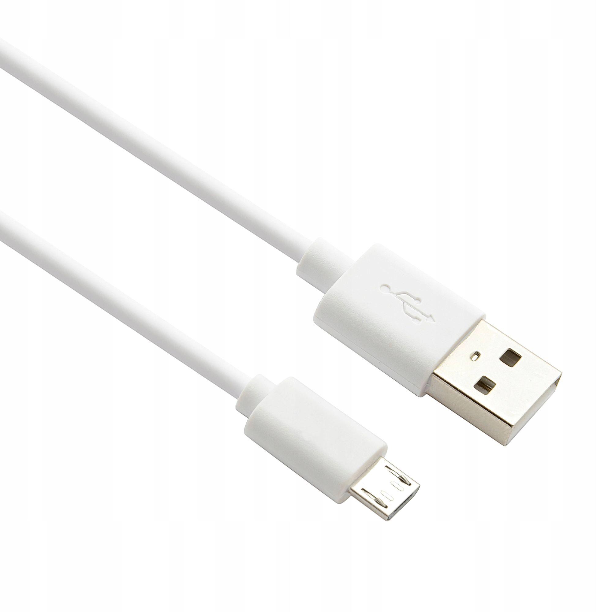 KABEL USB NOWY ORYGINALNY - MICRO USB 1m BIAŁY