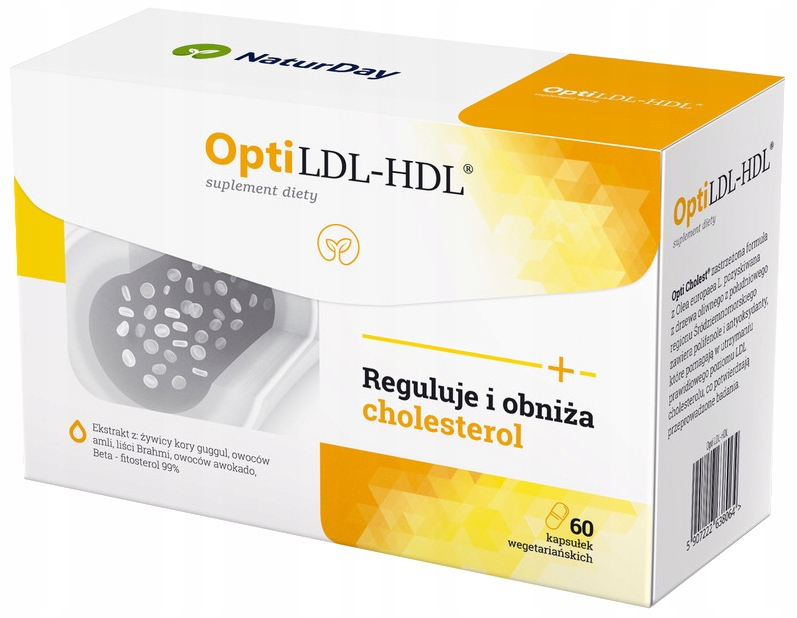 NaturDay Opti LDL-HDL Obniża Cholesterol 60kaps