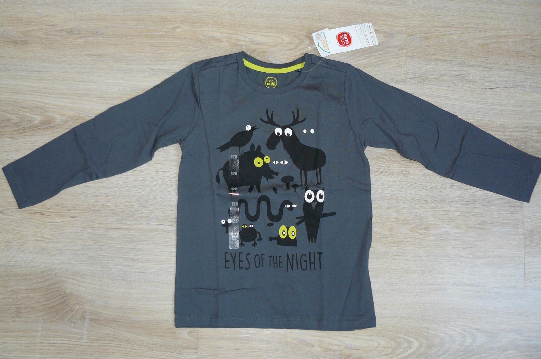 Bluzka długi rękaw t-shirt Cool Club r. 128 nowa