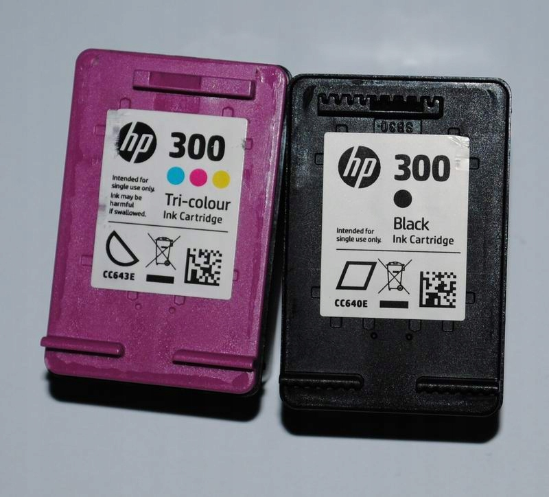 HP 300 COLOR+CZARNY ORYGINALNE TUSZE