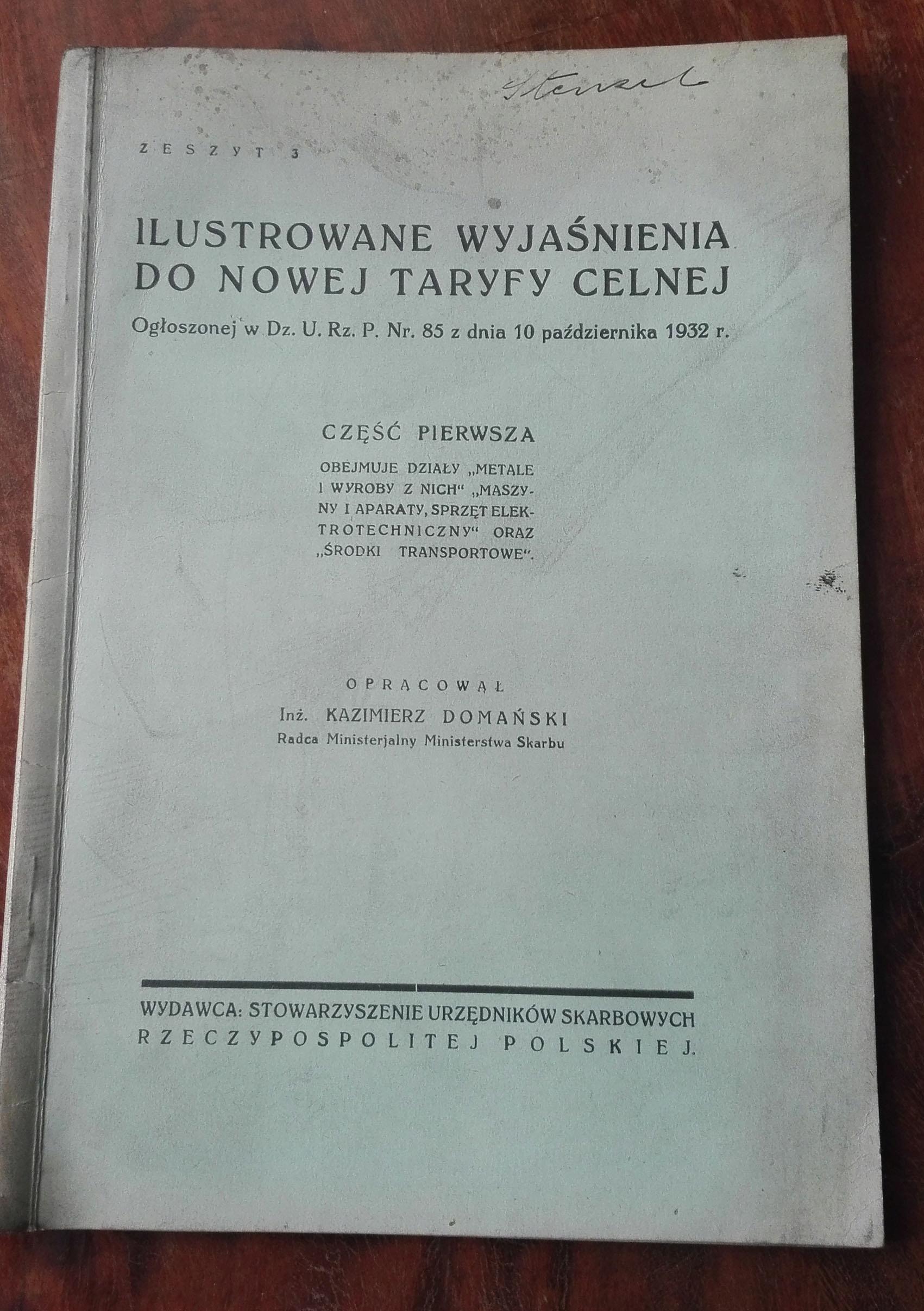 Ilustrowane wyjaśnienia do taryfy celnej 1932