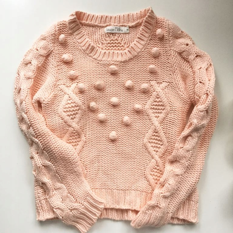 Louise Misha brzoskwiniowy sweter bubble 8