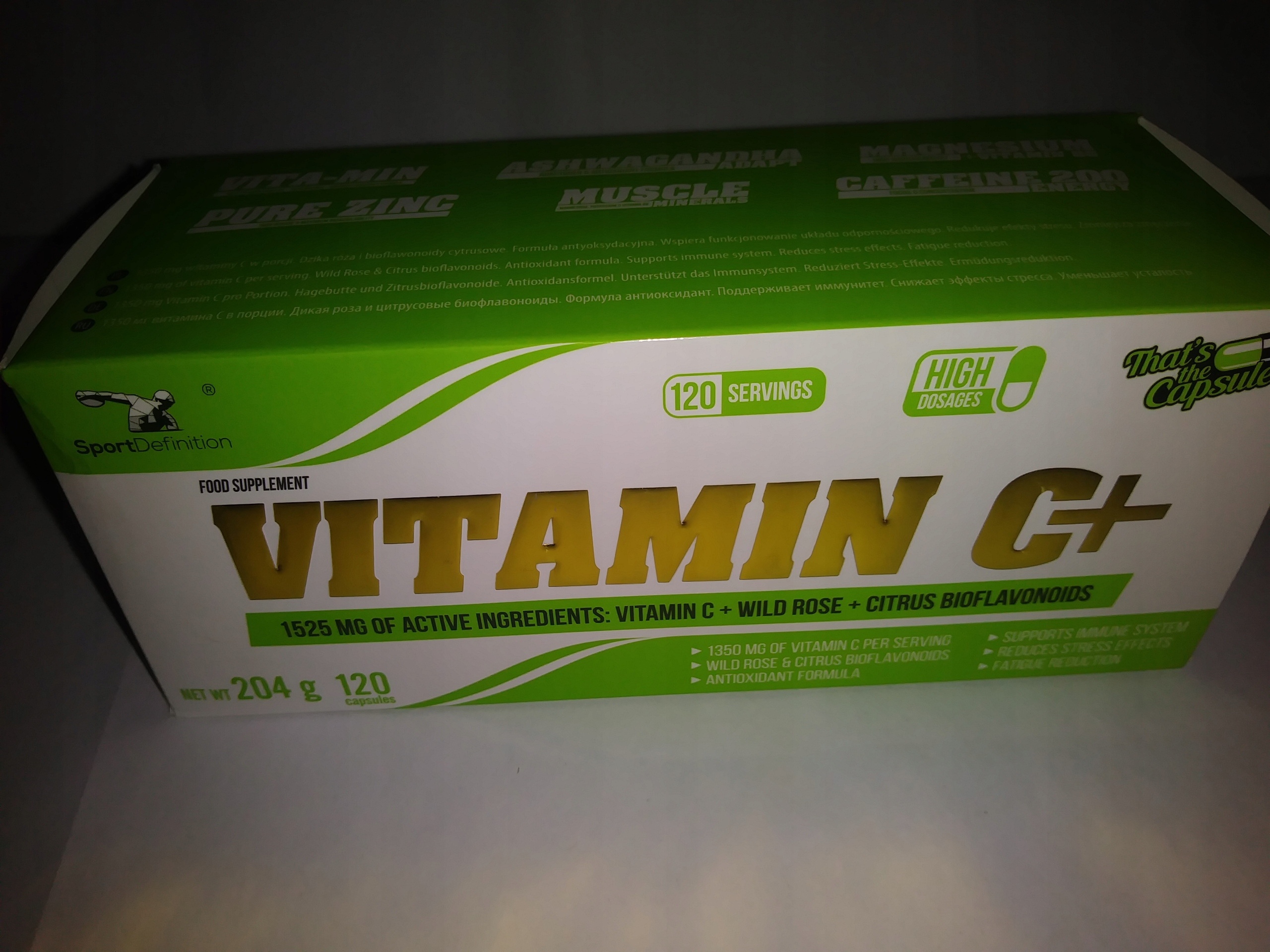 Vitamin C+ SportDefinition 1350mg (ODPORNOŚĆ)