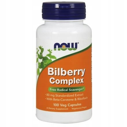 Now Foods Bilberry Complex 80mg 100 kaps.