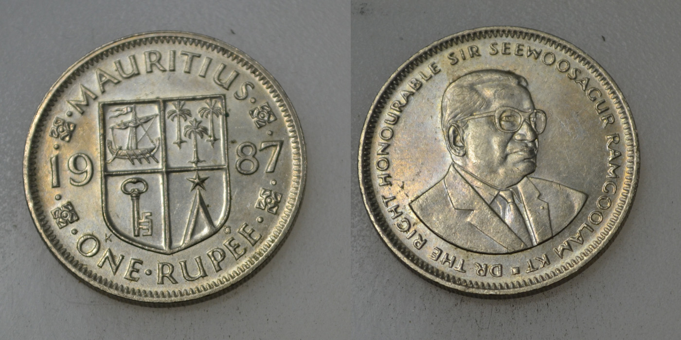 Mauritius 1 Rupia 1987 rok BCM