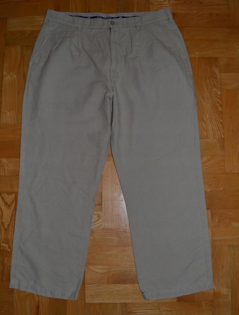 1520#M&S_spodnie lniane R.36/38 pas97 cm