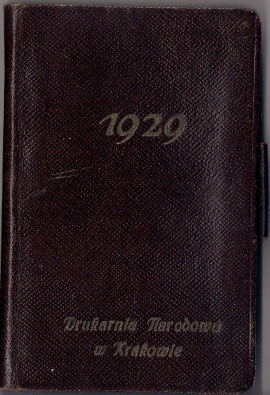 KALENDARZYK 1929 KRAKÓW WYDAWNICTWO ROBERT JAHODA
