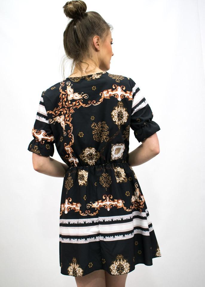 043c847a Czarna sukienka we wzorki - 7315361384 - oficjalne archiwum allegro